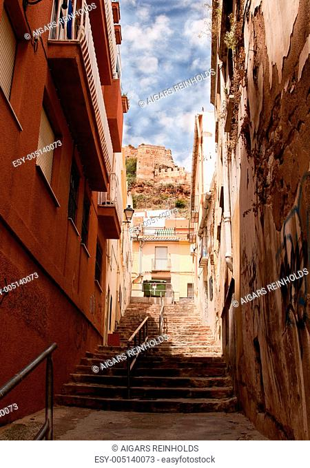 Sagunto is an ancient city in Eastern Spain. View on The Castle of Sagunto