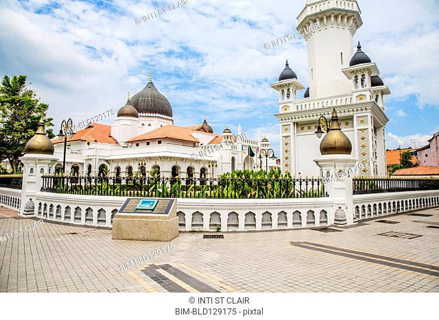 Kapitan Keling Mosque under blue sky, George Town, Penang, Malaysia