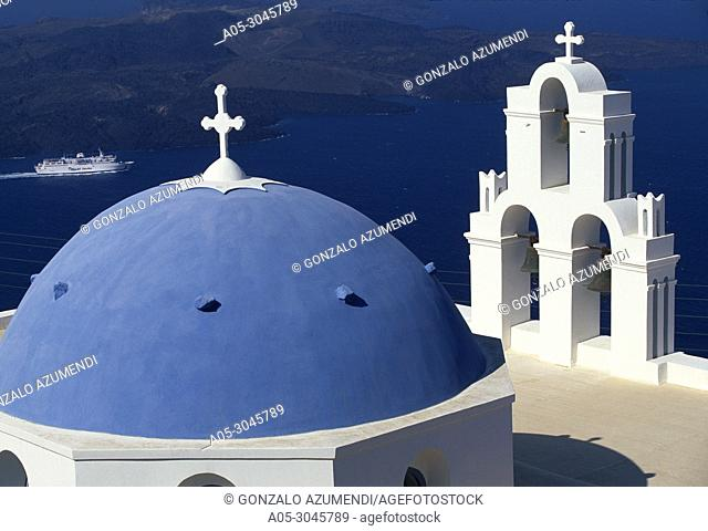 Agios Minas Church. Firostefani. Santorini. Cyclades Islands. Greece. .
