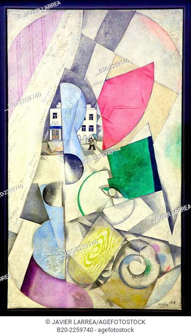 Paysage cubiste, 1920. Marc Chagall. Centre George Pompidou. Musee National d'Art Moderne. Paris. France
