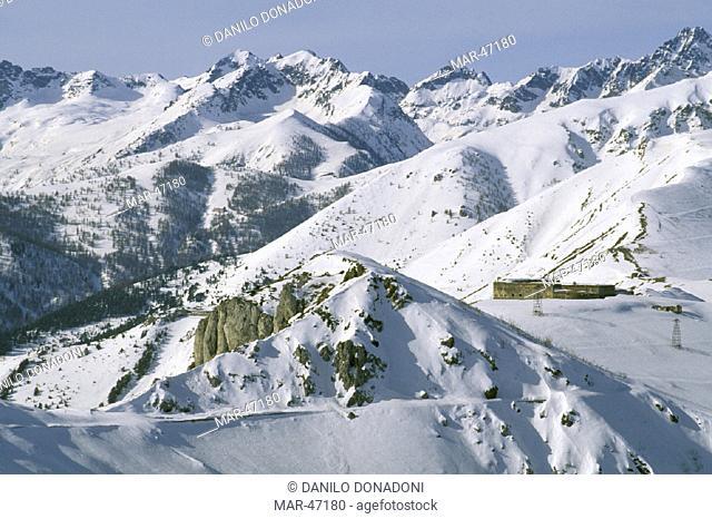 mountains towards colle di tenda, limone piemonte, italy