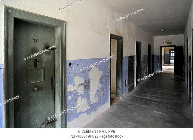 Isolation cells at Natzweiler-Struthof, the only concentration camp established by the Nazis on French territory, Alsace, France