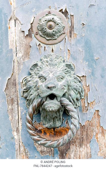 Headline: Knocker, Murano, Venice, Venetia, Italy, Europe