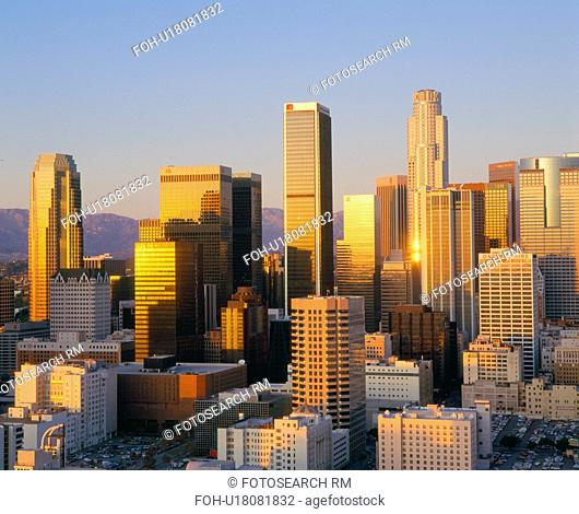 Los Angeles Skyline a Dusk, California