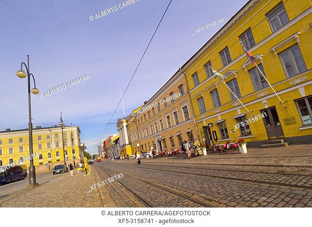 Traditional architecture, Senate Square, Helsinki, Finland, Europe