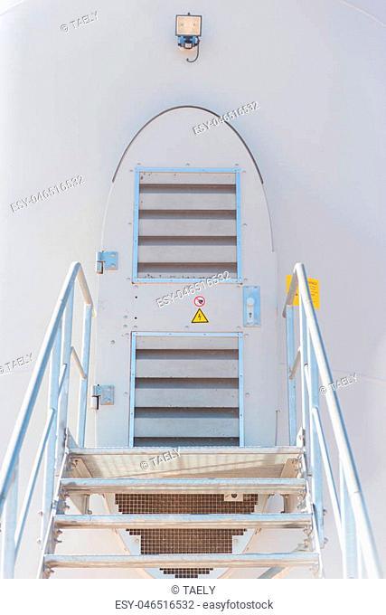 Windmill door. Wind turbine door