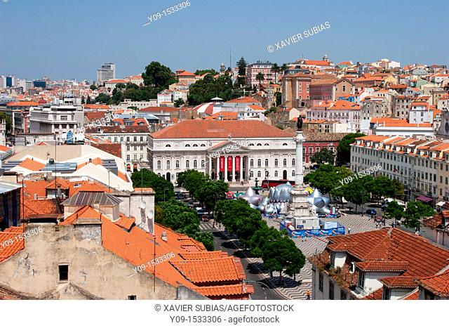 Rossio Square, Lisbon  Portugal