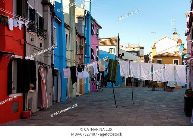Venetian lagoon, island of Burano, laundry