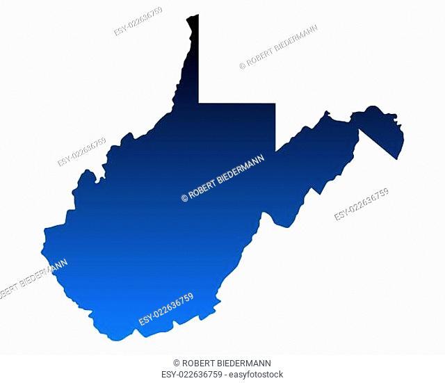 Karte von West Virginia