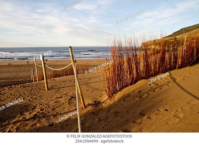 Dune at La Arena Beach, Basque Country, Biscay, Spain