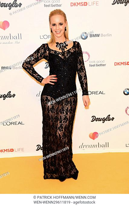 DKMS Dreamball 2016 at The Ritz Carlton Hotel at Potsdamer Platz square. Featuring: Isabel Edvardsson Where: Berlin, Germany When: 29 Sep 2016 Credit: Patrick...