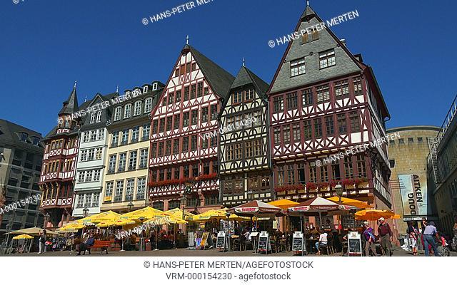 Half-timbered houses at Römerberg, Frankfurt am Main, Hesse,Germany