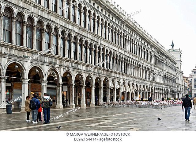 Napoleonic Procuratie at St. Mark's Place, San Marco, Venice, Italy