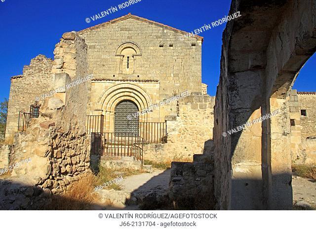 Hermitage and monastery ruins San Frutos, XI century. Natural Park Hoces del Duratón. Segovia