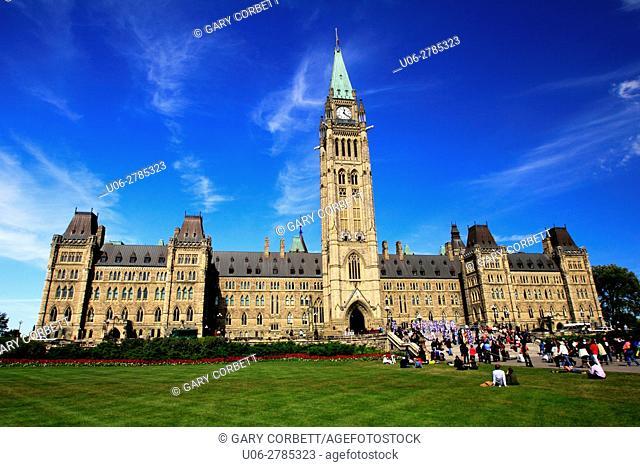 Parliament building in Ottawa, Ontario, Canada