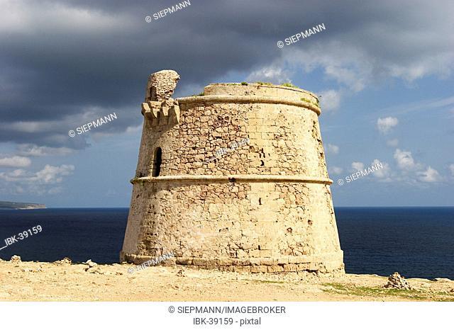 Old tower Torre des Garroveret at Cap de Barbaria - Formentera
