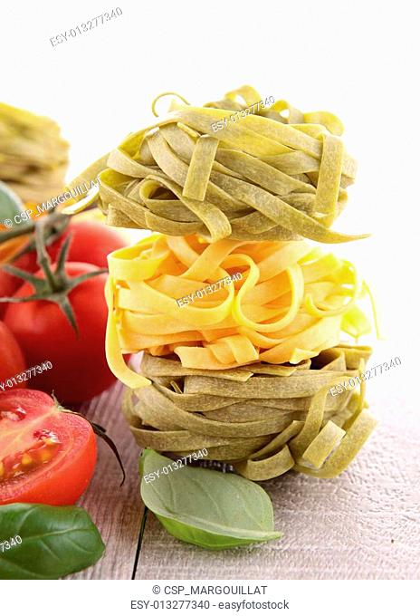 raw pasta and ingredients