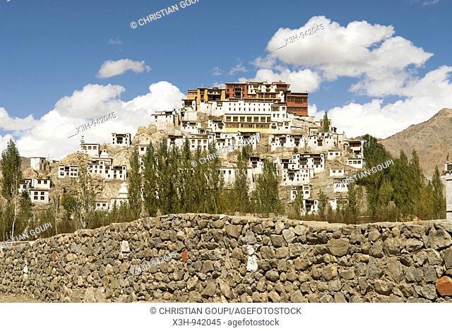 monastere de Thiksey,ladakh,jammu et kashmir,inde,asie