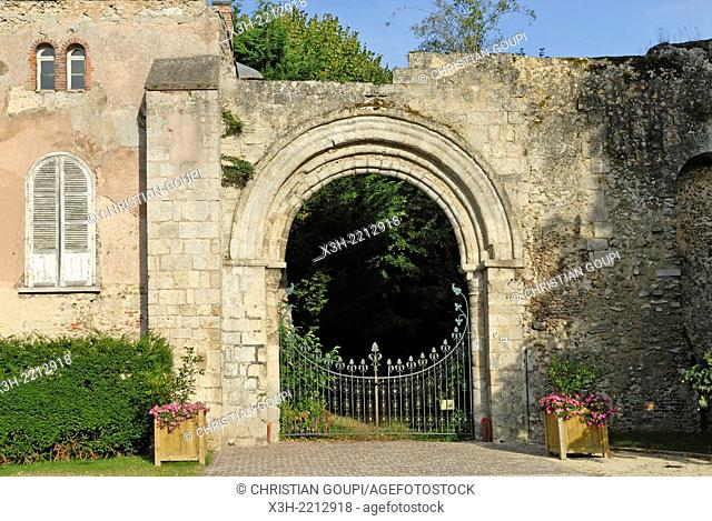 remains of the ancient abbey Our Lady of Coulombs village, Eure-et-Loire department, Centre region, France, Europe
