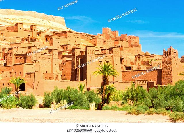 Ait Benhaddou,fortified city, kasbah or ksar, along the former caravan route between Sahara and Marrakesh in present day Morocco