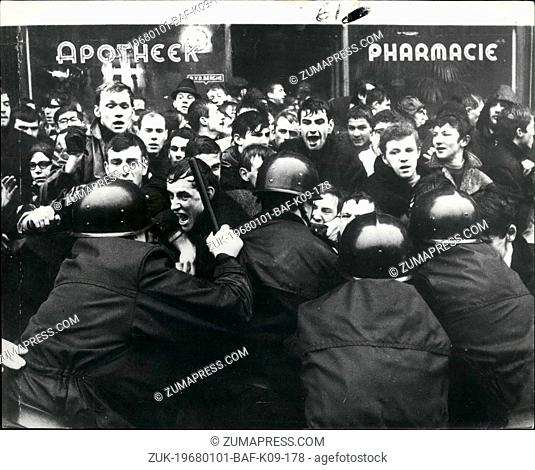 Jan. 01, 1968 - Students Riot In Louvain.: Flemish and French speaking Belgians are again at each other' s throats. Flemish students at the ancient Catholic...