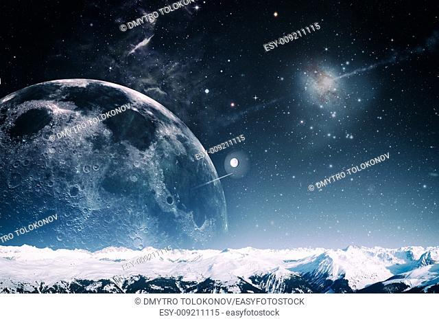 Another world landscape, abstract fantasy backgrounds