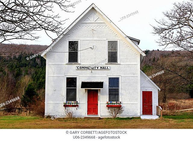 The community hall at Clarence, Nova Scotia, Canada
