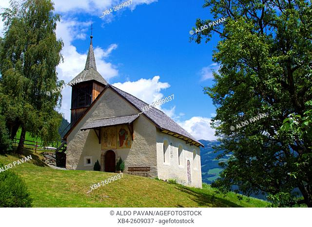 Saint Valentin church, Sarentino, Sarntal valley, Trentino-Alto Adige (Südtirol), Italy