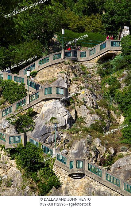 Austria, Styria, Graz, Schlossbergstiege Steps