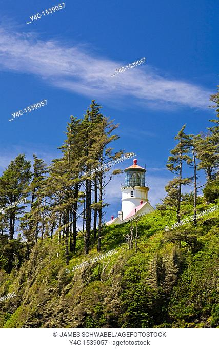 Heceta Head Lighthouse on the Pacific Ocean coast of Oregon