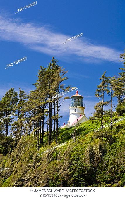 Heceta Head Lighthouse on the Pacific Ocean coast of Oregon