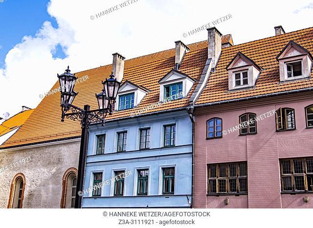 Colorful houses in Riga, Latvia, Europe