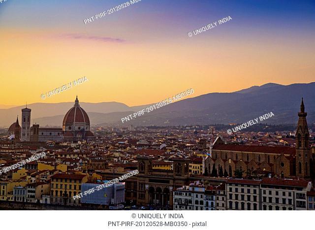 Church in a city, Duomo Santa Maria Del Fiore, Florence, Tuscany, Italy