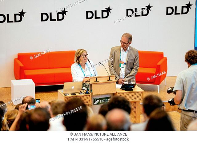BAYREUTH/GERMANY - JUNE 21: Steffi Czerny (DLD, l.) and Prof. Dr. Stefan Leible (President of th University of Bayreuth) welcome the participants of the DLD...
