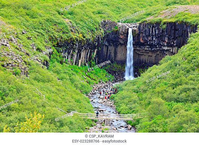 Black waterfall Svartifoss