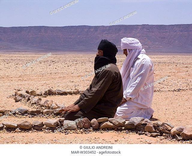 africa, libya, desert, open air mosque, prayer