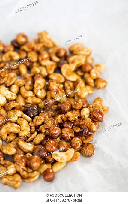 Various roasted nuts