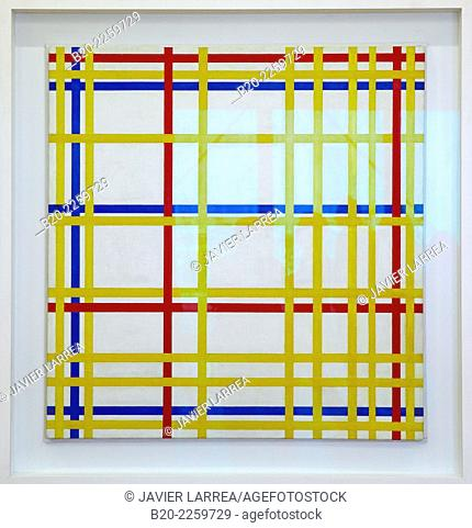 New York City, 1942. Piet Mondrian. Centre George Pompidou. Musee National d'Art Moderne. Paris. France