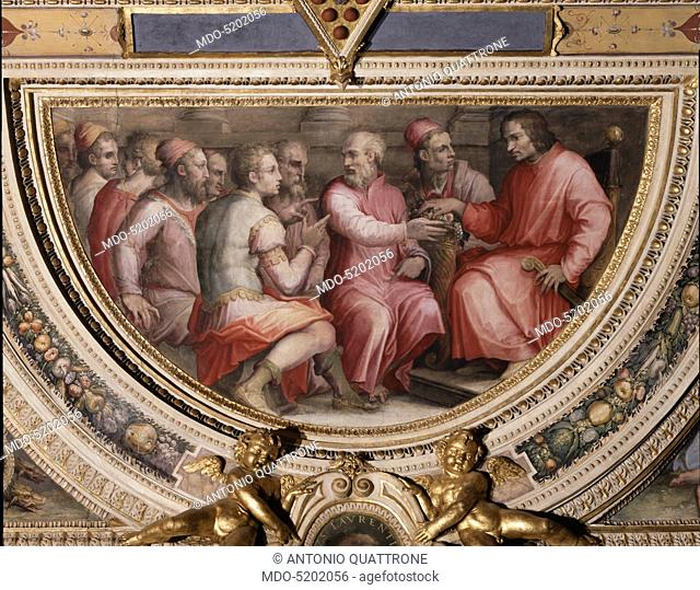 Lorenzo the Magnificent at the Diet of Cremona (Lorenzo il Magnifico alla dieta di Cremona), by Giorgio Vasari, 1556, 16th Century, fresco