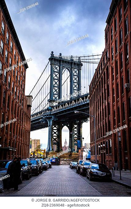 Manhattan Bridge, from Dumbo, Brooklyn
