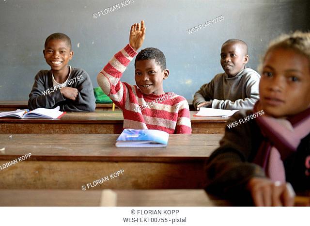 Madagaskar, Pupils in Fianarantsoa elementary school