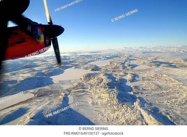 View from a Dash 7 down to Greenland / Blick aus eine Dash 7 auf Grönland