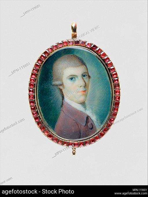 Portrait of a Gentleman. Artist: Henry Benbridge (American, Philadelphia 1743-1812 Philadelphia); Date: ca. 1770; Medium: Watercolor on ivory; Dimensions: 1 1/4...