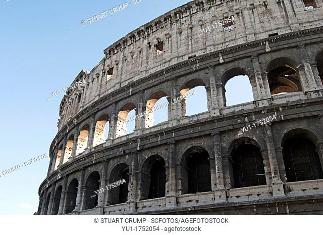 The exterior of the Colosseum, Rome, Italy, Europe