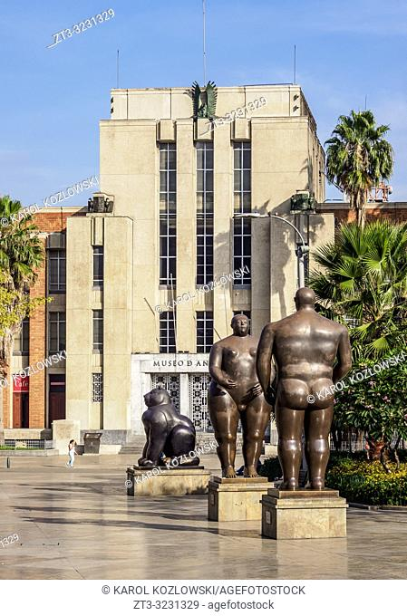 Sculptures by Fernando Botero and Museum of Antioquia, Plaza Botero, Medellin, Antioquia Department, Colombia