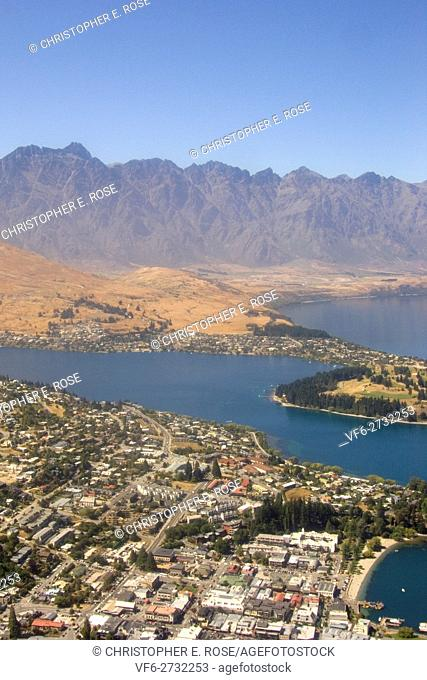 New Zealand, South Island, Queenstown, Lake Wakatipu, The Remarkables