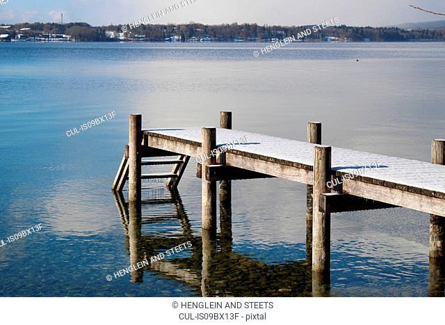 Empty pier, Lake Starnberg, Bavaria, Germany