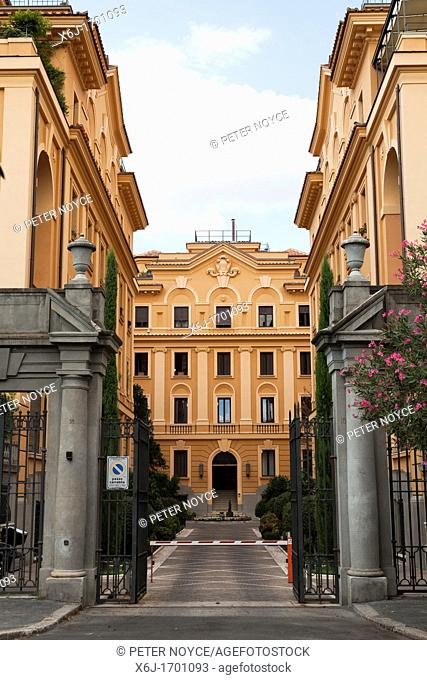 foreign embassy residences in the Via della Tre Madonne in Rome