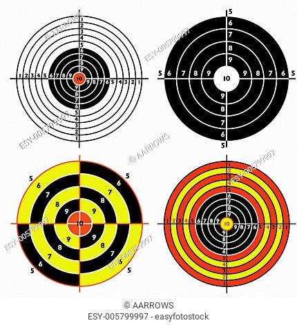 Set targets for practical pistol shooting