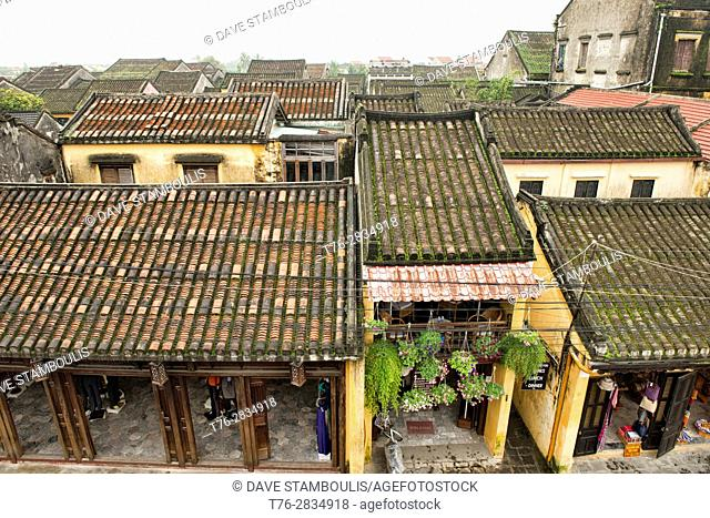 Rooftops, historic old district, Hoi An, Vietnam